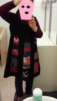 母の帯をあしらったジャンパースカート - がちゃぴん秀子の日記