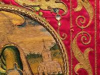 刺繍の生地 - Glicinia 古道具店