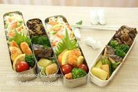 鮭フライ和風弁当&旅館みたいな御出勤御膳 - おばちゃんとこのフーフー(夫婦)ごはん