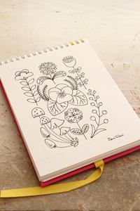 favori(マガジンランド)掲載作品のデザイン画 - ビーズ・フェルト刺繍作家PieniSieniのブログ