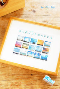 vintage cloudscapes stamps 古い雲の切手 - teddy blue