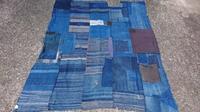 残糸織 襤褸布団皮 - 古布や麻の葉