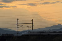 残念だったダイヤモンド富士 - 新幹線の写真