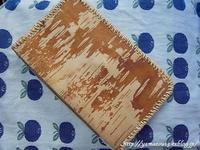 自宅使い 手帳の縁かがり - ロシアから白樺細工