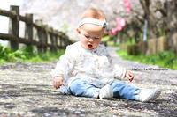 9ヶ月 Baby girl★桜フォト 【栃木県】 - 茨城 栃木 群馬 埼玉 千葉 出張撮影 Hallura-La * Photo blog