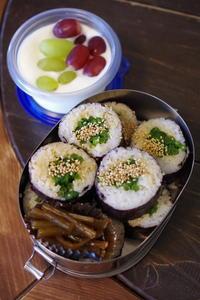 菜の花巻き寿司弁当。 - おおぐらい通信