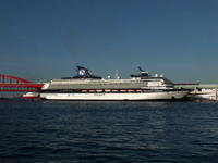 """5月2日(火)、神戸港第4突堤に客船""""SKYSEA GOLDEN ERA""""が入りました - フォトカフェ情報"""
