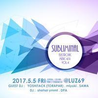 subliminal vol.4  (2k17.5.5 @LUZ69) - 裏LUZ
