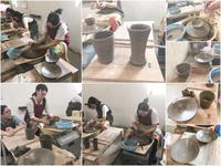 本日の陶芸教室 Vol.652、653、654 - 陶工房スタジオ ル・ポット