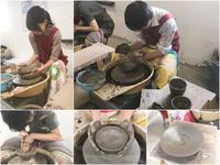 本日の陶芸教室 Vol.656、657 - 陶工房スタジオ ル・ポット