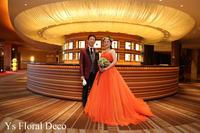ビビットなオレンジ色のドレスに ブーケ&花冠 - Ys Floral Deco Blog