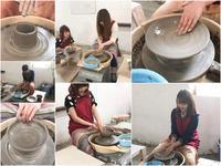 本日の陶芸教室 Vol.658、659 - 陶工房スタジオ ル・ポット