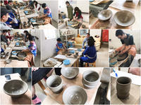 本日の陶芸教室 Vol.660、661、662 - 陶工房スタジオ ル・ポット