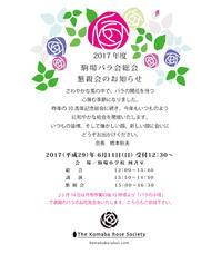 2017年度総会のお知らせ - 駒 場 バ ラ 会 咲く 咲く 日 誌