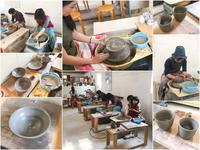 本日の陶芸教室 Vol.666、667、668 - 陶工房スタジオ ル・ポット