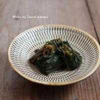 お初 わさび菜のしょうゆ漬け - ふみえ食堂  - a table to be full of happiness -