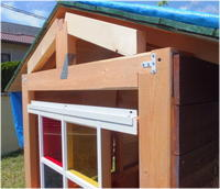 東側板張り完了 -庭小屋- - グラス工房 Grendora  -制作の足跡-