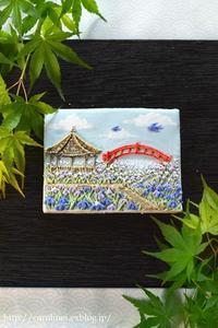 こどもの日に、菖蒲園のアイシングクッキー  Homemade Iris Garden Icing Cookie - お茶の時間にしましょうか-キャロ&ローラのちいさなまいにち- Caroline & Laura's tea break