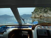 好天に恵まれて小黒神島へ - San Marinoの海を越えて