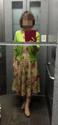 フレアスリーブワンピ着てみた、でも袖は写ってないw - 新生・gogoワテは行く!