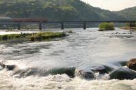 夕陽に輝く川面 - ゆる鉄旅情