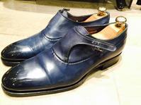 【Santoni】アンティーク加工のハイシャイン - 銀座三越5F シューケア&リペア工房<紳士靴・婦人靴・バッグ・鞄の修理&ケア>
