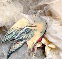 パリの蚤の市から*幸福を届ける鳩と素敵な十字架 - BLEU CURACAO FRANCE
