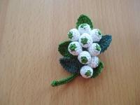 草花のブローチ - Atelier-gekka ハンドメイドのおはなし
