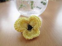 パンジーの花モチーフ - Atelier-gekka ハンドメイドのおはなし