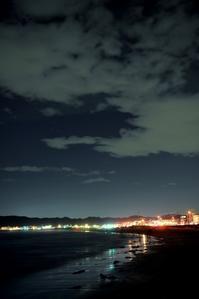 夜の波間 - 片眼を閉じて見る世界には・・・。