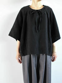 Ordinary fits  FOLK LINEN BLOUSE - 『Bumpkins putting on airs』