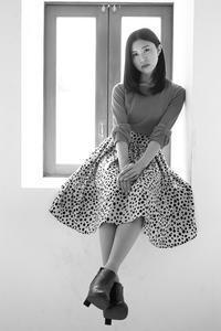 山本萌子ちゃん6 - モノクロポートレート写真館