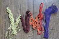 連休中に撚った糸と組んだ緒 - よしのクラフトルーム