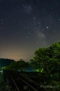 線路上に天の川 - ぷち鉄