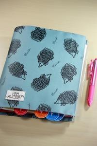 リサ・ラーソンの手作り手帳カバー・グレー編 - SWEETSライフ…青い森の国から