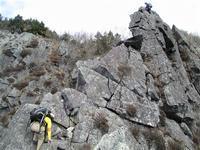 奥秩父 乾徳山でクライミング 旗立岩中央稜  Rock Climbing in Mount Kentoku in Chichibu-Tama-Kai NP - やっぱり自然が好き