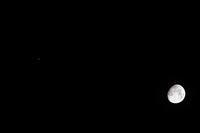 夜空でランデブー。。。 お月さまと木星さん - 万願寺通信