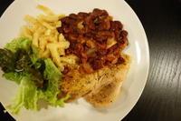 得意料理の豚肉ソテーとチリビーンズ - bluecheese in Hakuba & NZ:白馬とNZでの暮らし