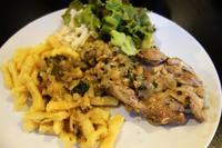 白ワインとハーブのチキン料理と油揚げ - bluecheese in Hakuba & NZ:白馬とNZでの暮らし