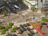 京都駅前 - Blue Planet Cafe  青い地球を散歩する
