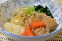 鶏団子の煮物 - おいしい日記