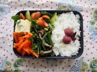 5/10(水)青梗菜とウインナー炒め弁当 - ぬま食堂