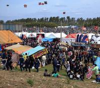 浜松祭り 凧揚げ会場へ - 休日はタンデムツーリング