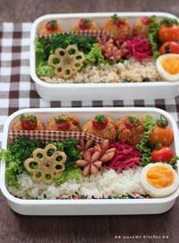 コロッケ弁当 ✿ 肉味噌のっけ冷やし中華(๑¯﹃¯๑)♪ - **  mana's Kitchen **