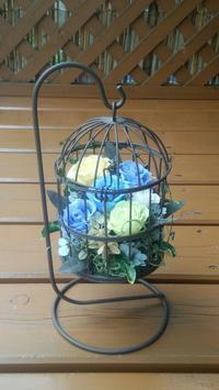 生徒さん作品☆バードゲージ - お花とマインドフルネスな時間 ~花工房GreenBell~