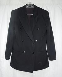 黒ウールベスト - フリルの子供服