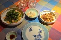 春雨サラダ/麻婆豆腐/海老ワンタン - まほろば日記