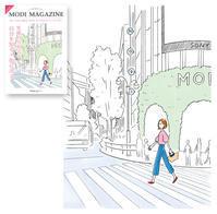 【フリーペーパー】渋谷モディ『MODI MAGAZIN』の表紙&中面イラストを描きました。 - 溝呂木一美(飯塚一美)の仕事と趣味とドーナツ