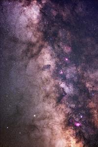いて座~たて座の天の川とタットル・ジャコビニ・クレサック彗星(41P) - 安倍奥の星空