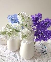布花のライラック - handmade flower maya